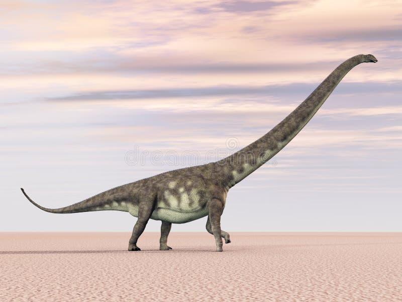 Mamenchisaurus do dinossauro ilustração do vetor