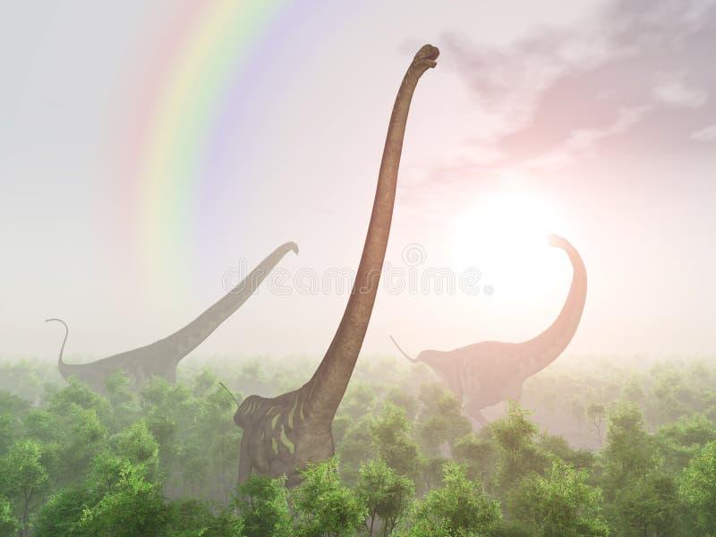 Mamenchisaurus do dinossauro ilustração stock