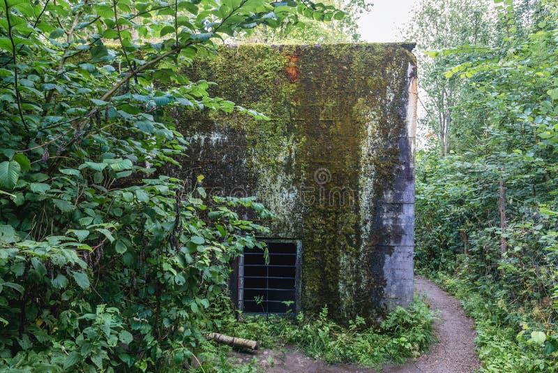 Mamerki地堡在波兰 库存照片