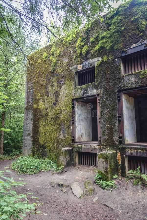 Mamerki地堡在波兰 库存图片