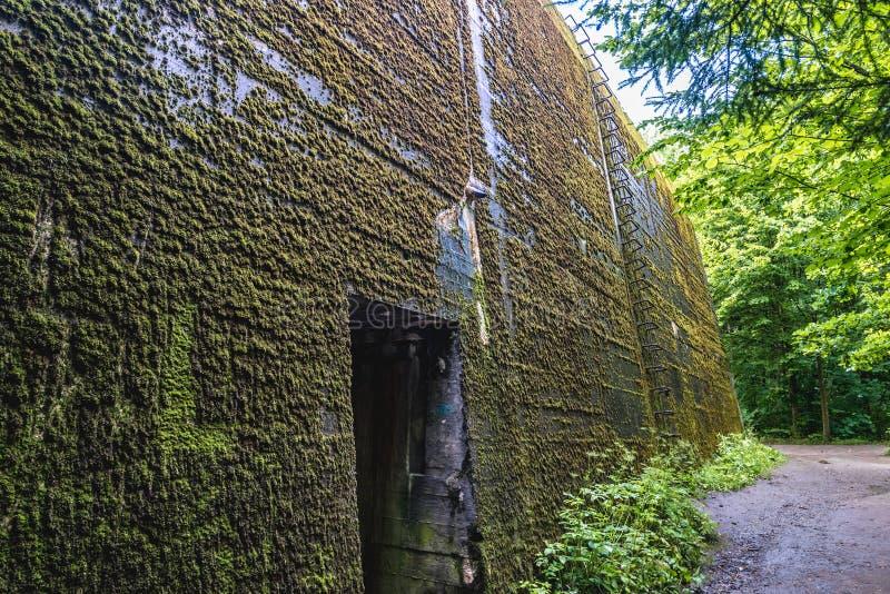 Mamerki地堡在波兰 免版税库存图片