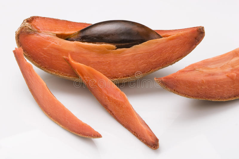 Mamey, fruit tropical images libres de droits
