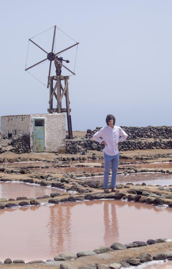 Mamie Canaria, Salinas de Tenefe images stock