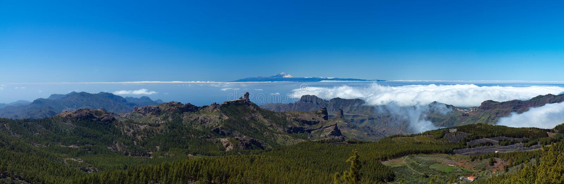 Mamie Canaria, vue du point le plus élevé de l'île, Pico De image libre de droits
