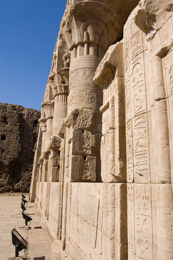 Mamissi, templo de Horus, Edfu, Egipto fotos de archivo