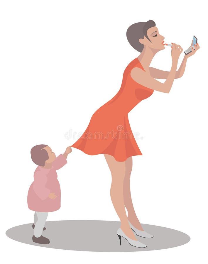 Mamma_and_child imagen de archivo libre de regalías
