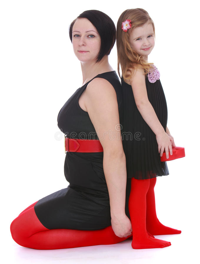 Mamma e figlia di modo immagine stock