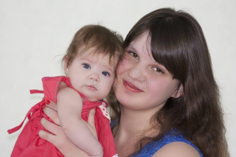 Mamma en baby Foto voor uw royalty-vrije stock foto