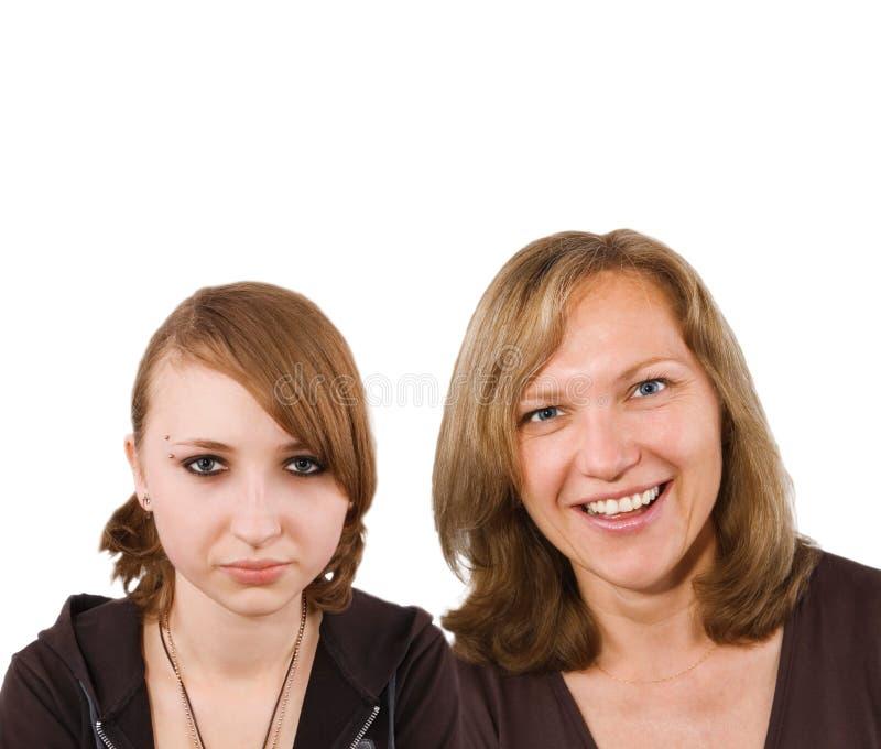 Mamma en Dochter (tiener) royalty-vrije stock afbeelding