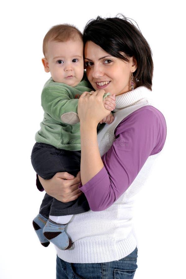 Mamma en weinig babyjongen royalty-vrije stock afbeeldingen