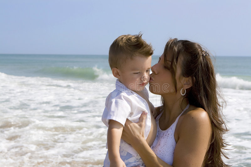 Mamma en zoon stock foto's