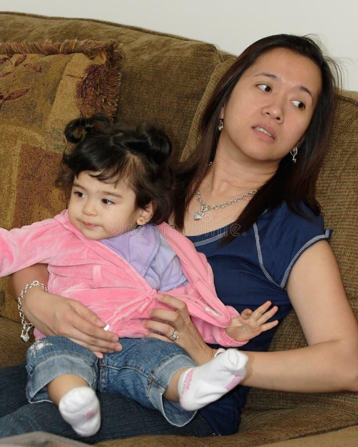 Mamma met baby royalty-vrije stock fotografie