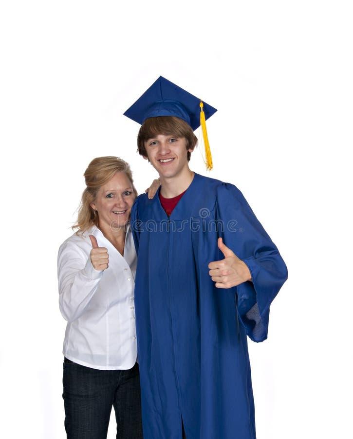Mamma met gediplomeerde royalty-vrije stock afbeeldingen