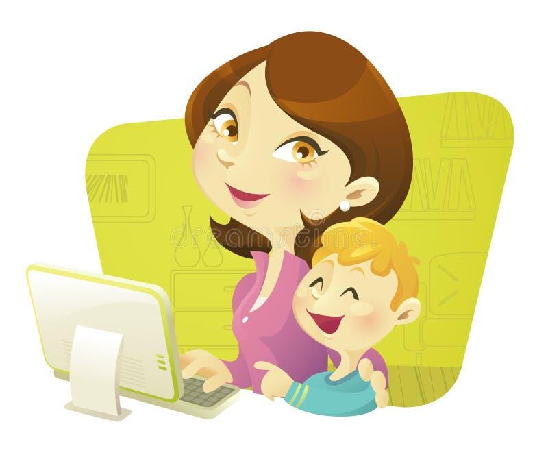 Mamma mit Kindern stockbilder