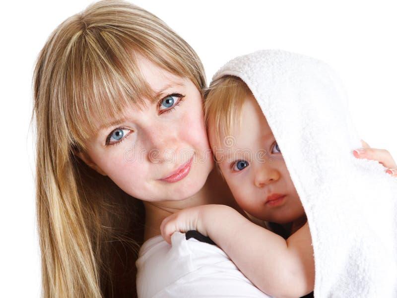 Mamma mit Sohn stockfotos