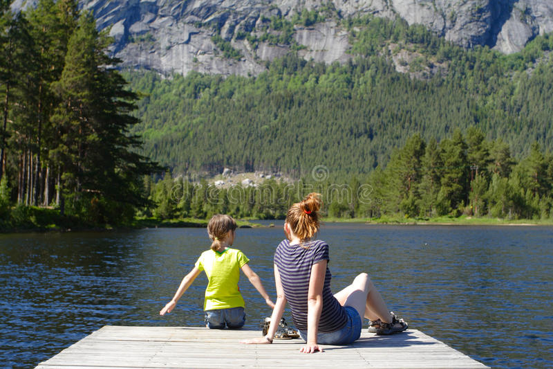 Mamma mit Tochter lizenzfreies stockfoto