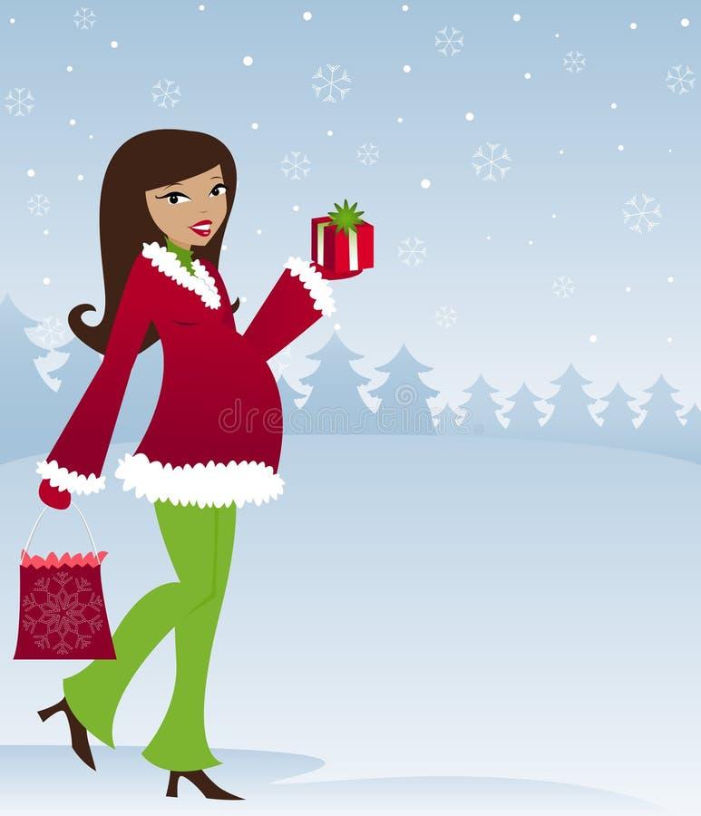 Mamma om te zijn - de Winter stock illustratie