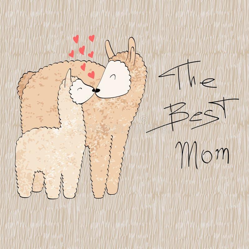 Mamma und Schätzchen vektor abbildung
