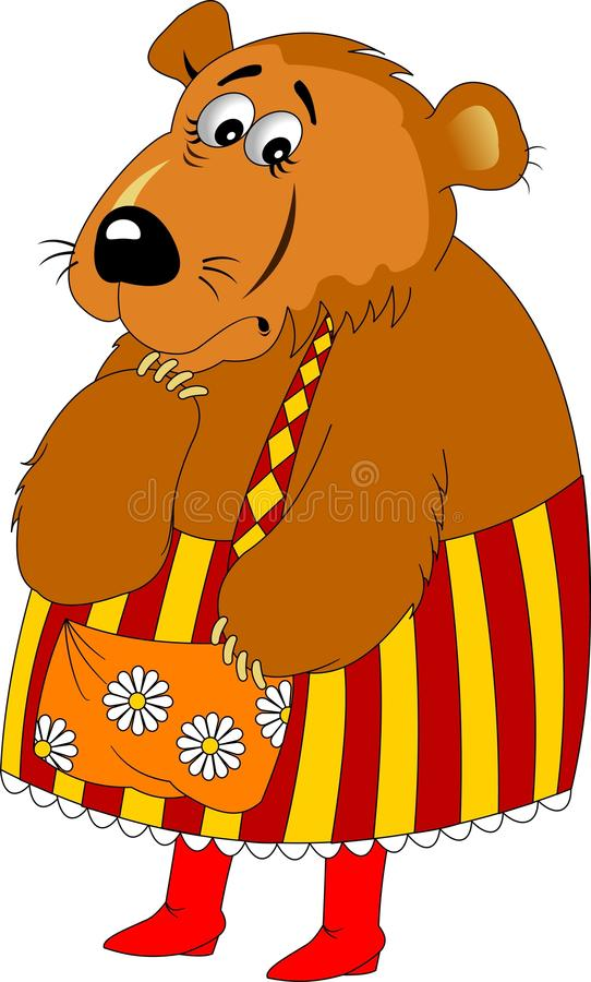 Mammabjörn royaltyfri illustrationer