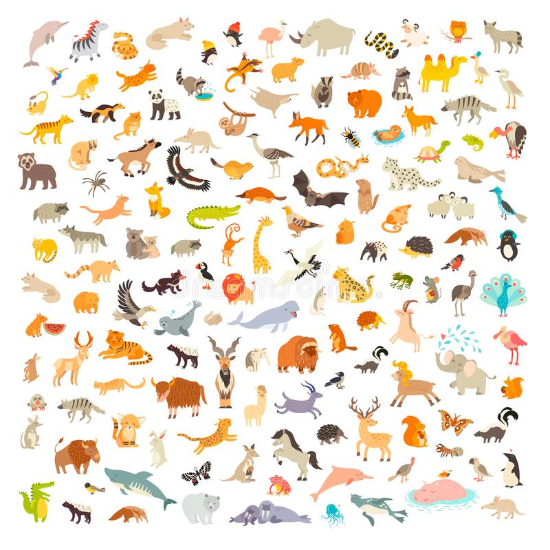 Free Mammals Of The World. Animals Cartoon Style, Mammals Icon Stock Photography - 148215532