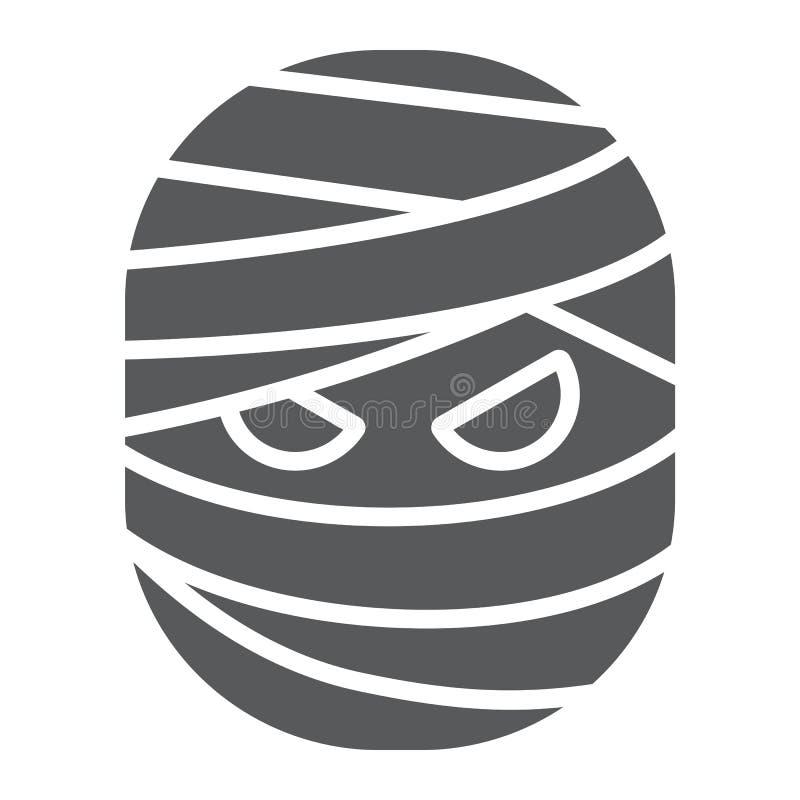 Mammaskårasymbol, halloween och kusligt gigantiskt tecken, vektordiagram, en fast modell på en vit bakgrund royaltyfri illustrationer