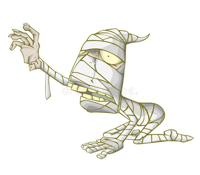Mammateckenvektor Monster i allhelgonaaftonnatt stock illustrationer