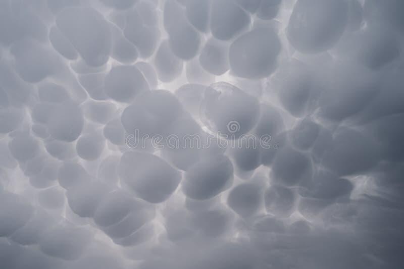 Mammatus cloudscape 免版税库存照片
