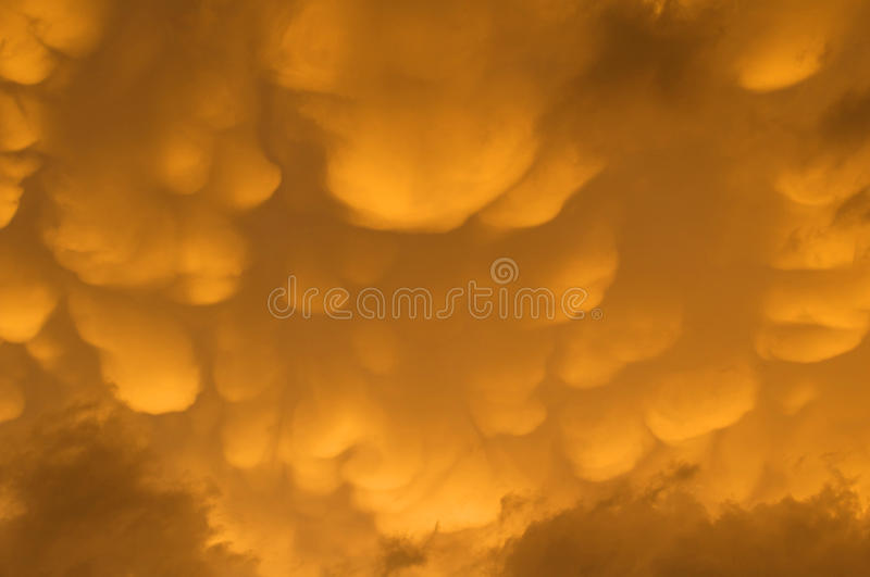 Mammatuswolken over centraal Montana royalty-vrije stock foto's