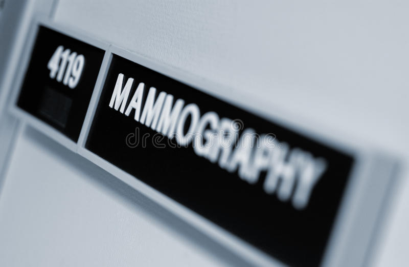 Mammography sign royalty free stock image