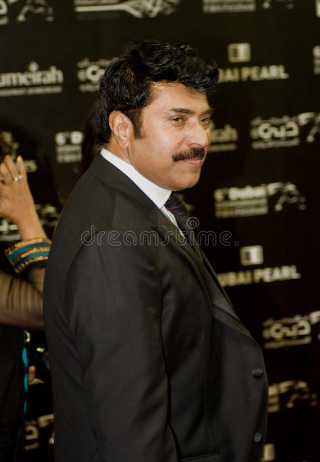 Mammootty, attore indiano del sud di Malayam immagine stock