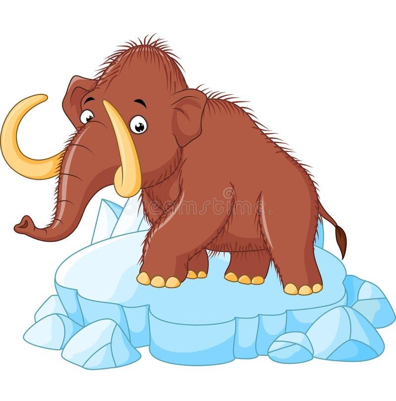Mammoth cartoon vector illustration