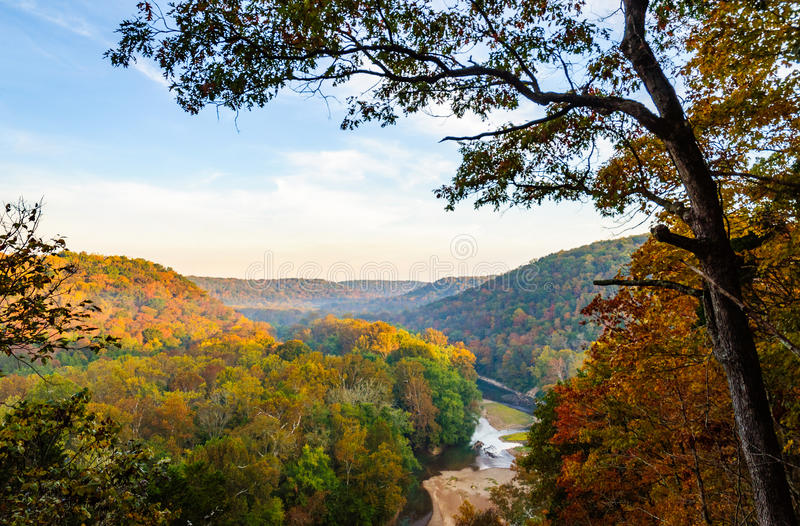 Mammoth Cave National Park. Autumn Overlook royalty free stock photo