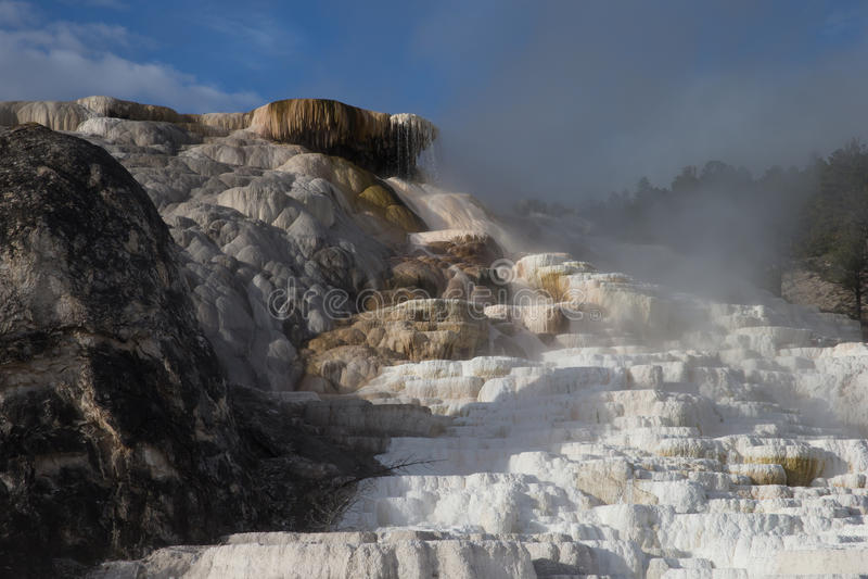 Mammoth hot spring terrace stock photos