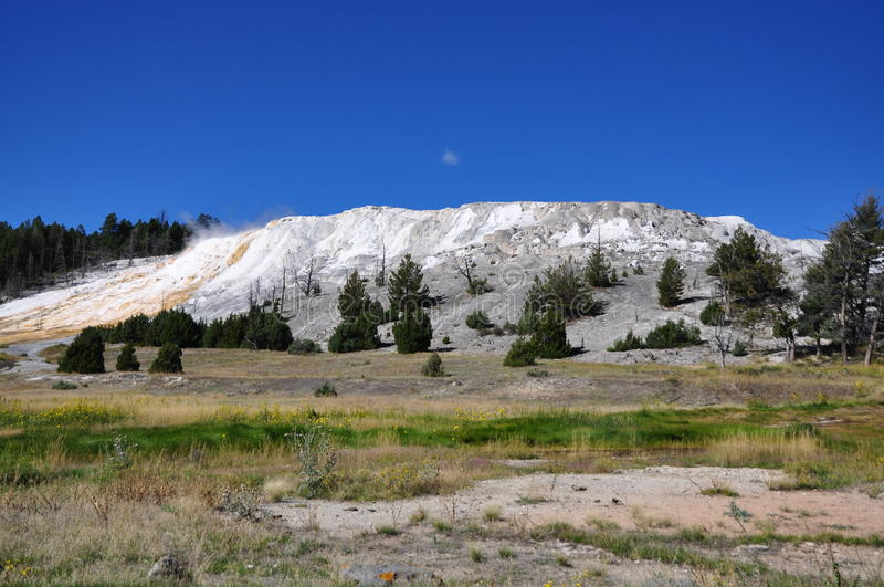 Mammoth Hot Springs images libres de droits