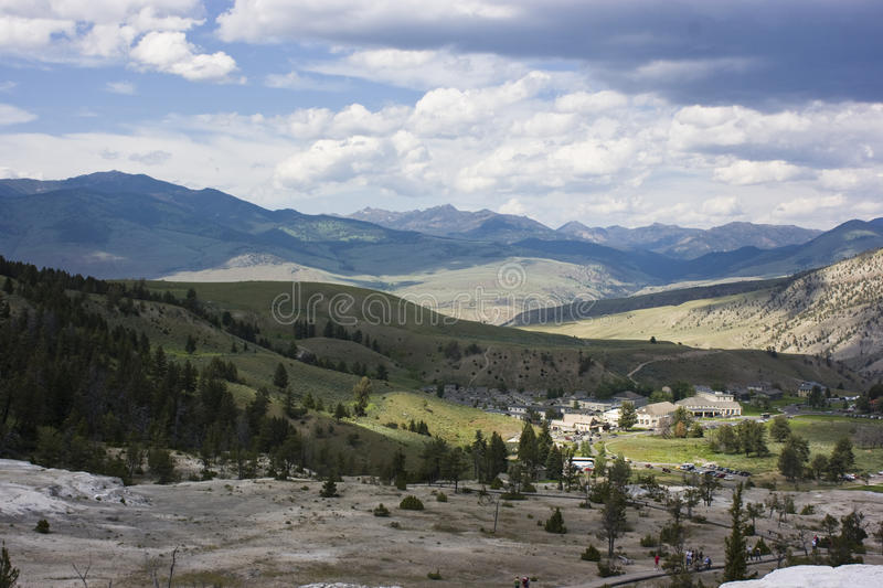 Download Mammoth Hot Springs Valley stock image. Image of national - 12498573