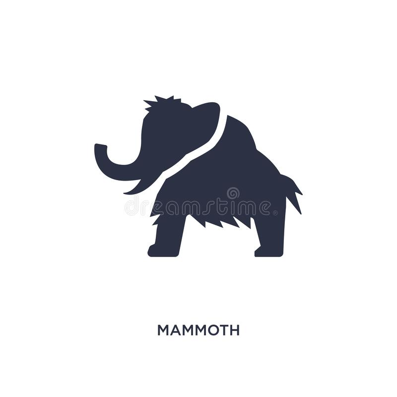 mammoth icon on white background. Simple element illustration from stone age concept stock illustration