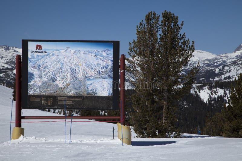Mammoth Mountain Ski Map photographie stock