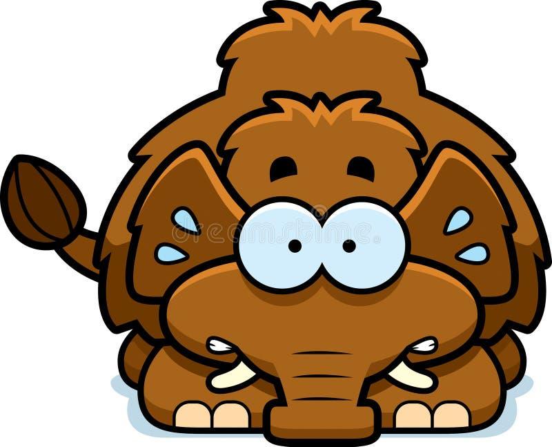 Mammoth pequeno nervoso ilustração royalty free