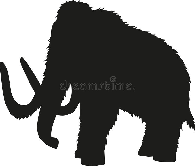 Mammoth silhouette vector illustration