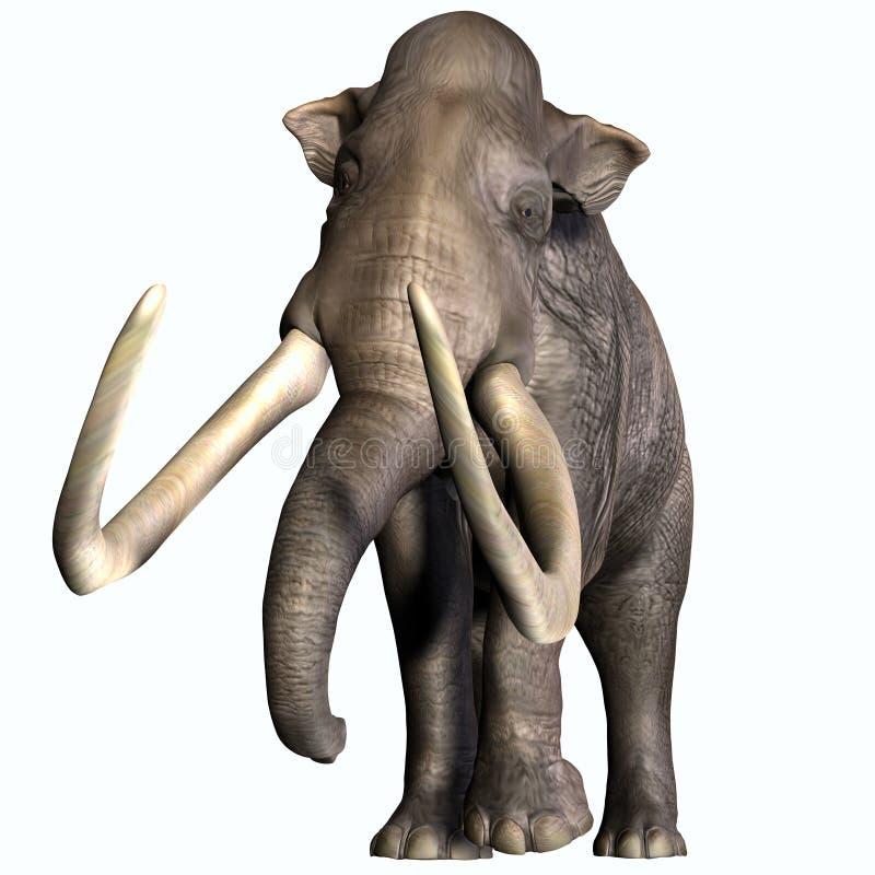 Mammut colombiano Front Profile royalty illustrazione gratis