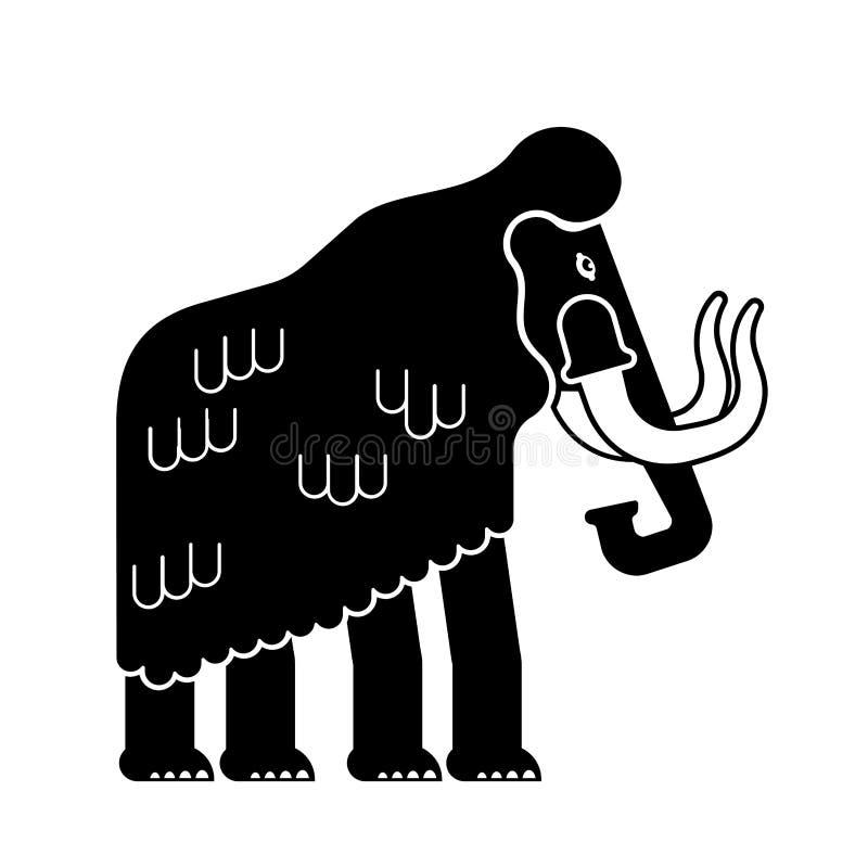 Mammut isolato Elefante preistorico su fondo bianco gian royalty illustrazione gratis