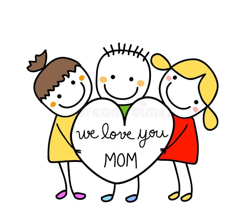 mamo, miłości ilustracji