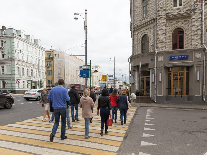 Mamontovsky车道在莫斯科,俄罗斯 库存照片