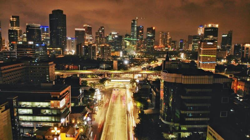Mampang del sottopassaggio, Jakarta del sud al 11:00 PM - Indonesia fotografia stock
