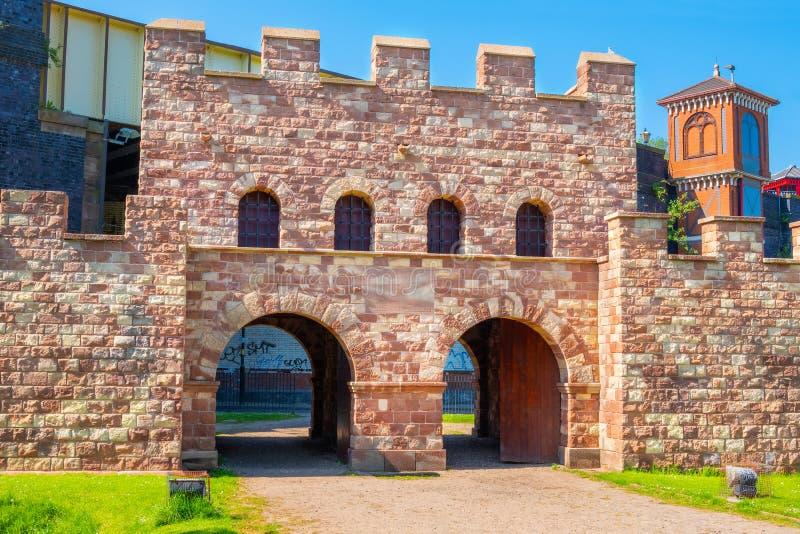 Mamucium, ancien fort romain dans la région de Castlefield à Manchester, R-U photos libres de droits