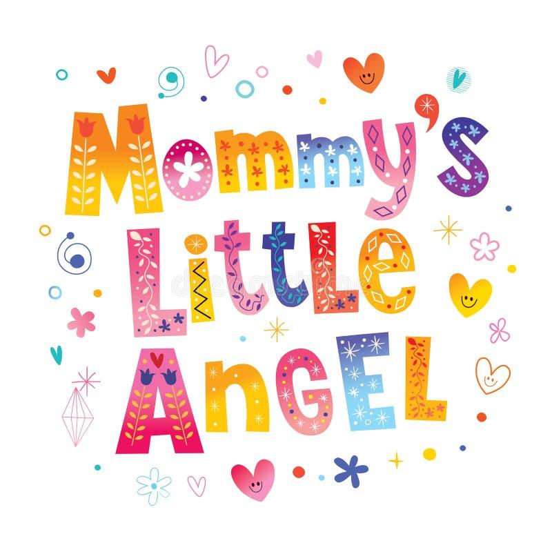 Mamusi ` s mały anioł royalty ilustracja