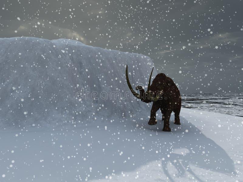 Mamut de la edad de hielo libre illustration