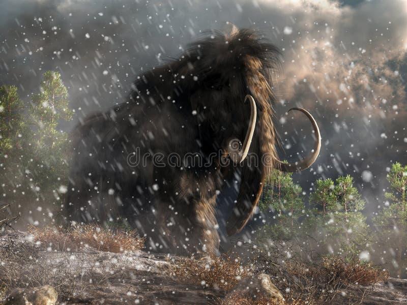 Mamut w miecielicie royalty ilustracja