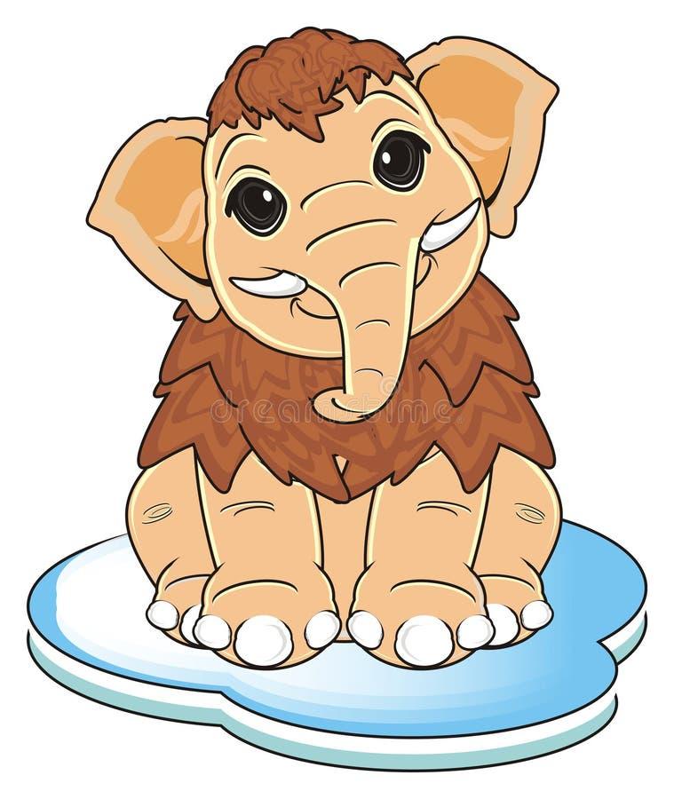 Mamut z floe ilustracja wektor