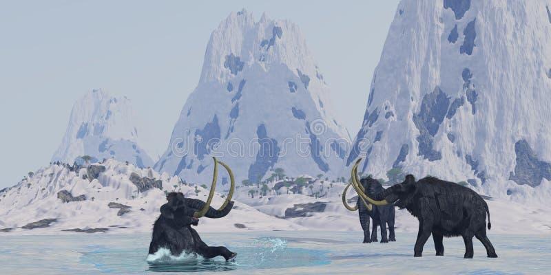 mamut zwełniony royalty ilustracja